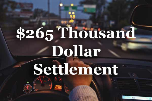 265 Thousand Dollar Settlement